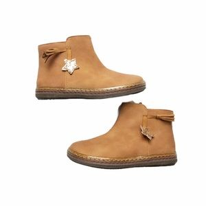Brown Star Ankle Boots